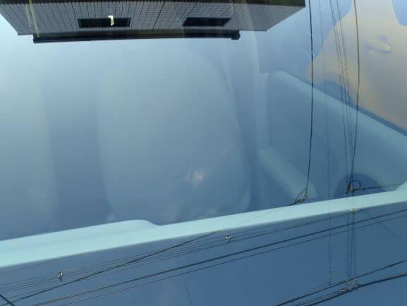 トヨタ パッソのフロントガラスのヒビ割れのウインドリペア後