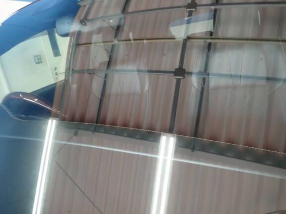 京田辺市 トヨタ ハリアー 飛び石 フロントガラス ひび割れ リペア後