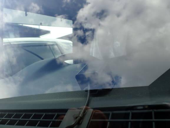 フレアクロスオーバー フロントガラス 飛び石ヒビ割れの修理・リペア後