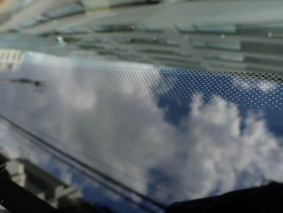 マセラティ レヴァンテ フロントガラスの飛び石をリペア後
