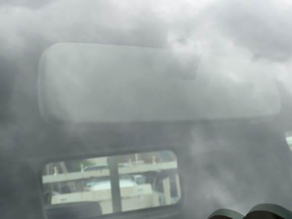 京都市山科区 トヨタ トヨエース フロントガラスの飛び石のヒビ修理後